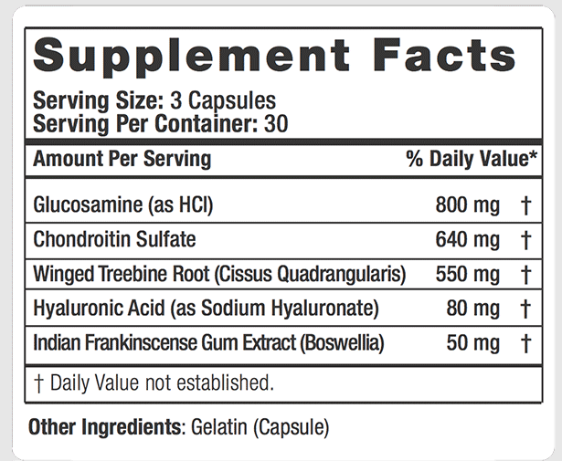 MECHAN-X Supplement Facts
