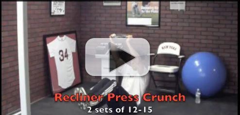 recliner press crunch exercise