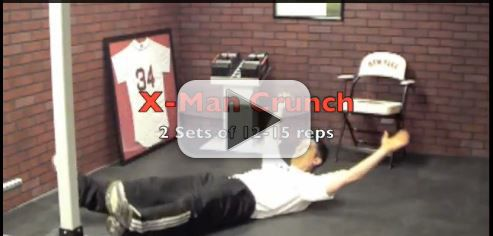 x man crunch exercise