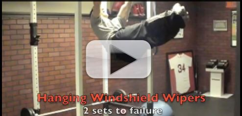 hanging windshield wipers exercise