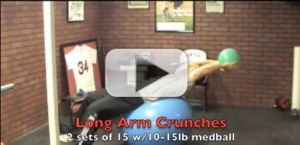 long arm crunches exercise