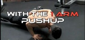 one arm pushup