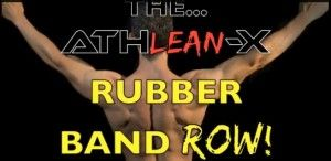 back building rubber band row