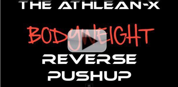 reverse bodyweight pushup