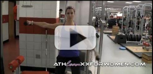 women shoulder workout
