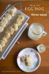 egg nog 3 ways