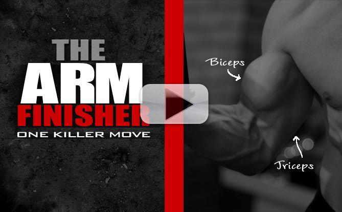 arm workout finisher exercise