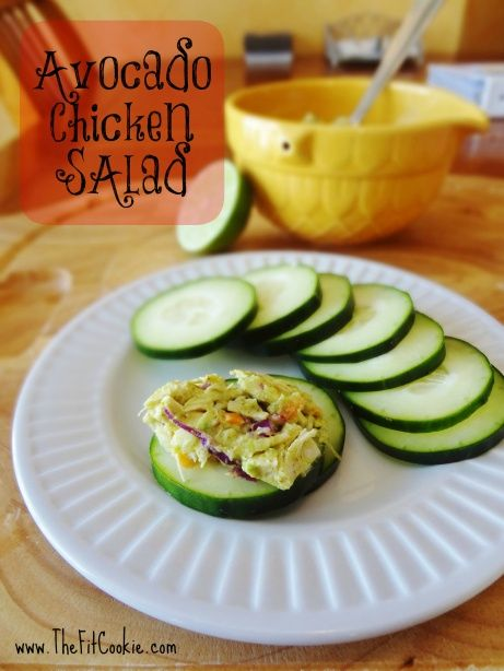 Avocado Chicken Salad by TheFitCookie.com