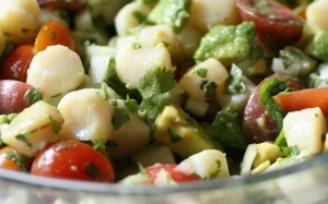 citrus salad scallops