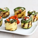 rolled zucchini with goat cheese recipe