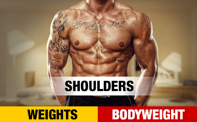 Bodyweight Shoulder Workout Home Shoulders Yt