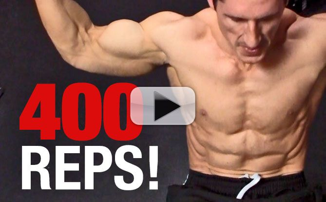 My 400 REP Ab Workout (CAN YOU DO IT?)