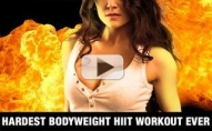 Hardest Bodyweight HIIT Workout Ever! (FIREBALL WORKOUT!!)