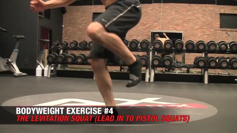 levitation squat bodyweight exercise