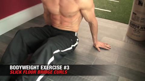 slick floor bridge curl bodyweight exercise
