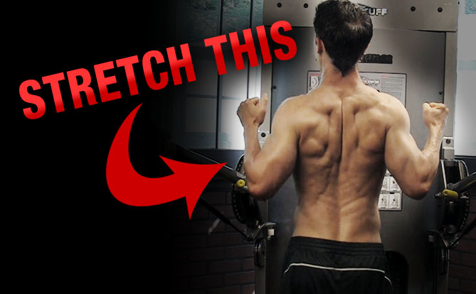 mid back and rhomboid stretch