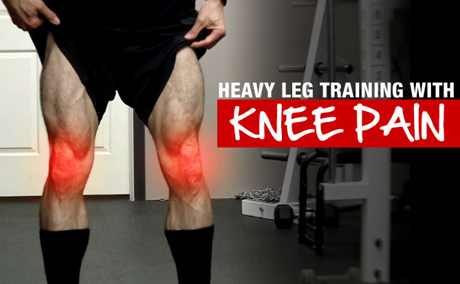 heavy leg training with knee pain