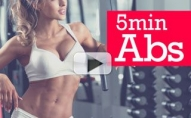 5 Minute FLAT ABS Workout (FAST AND EFFECTIVE!)