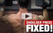 Your Overhead Shoulder Press…FIXED!‏