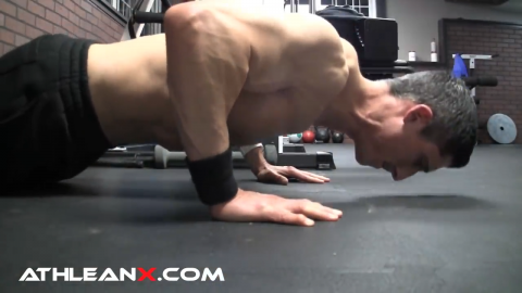classic pushup bodyweight exercise for middle chest