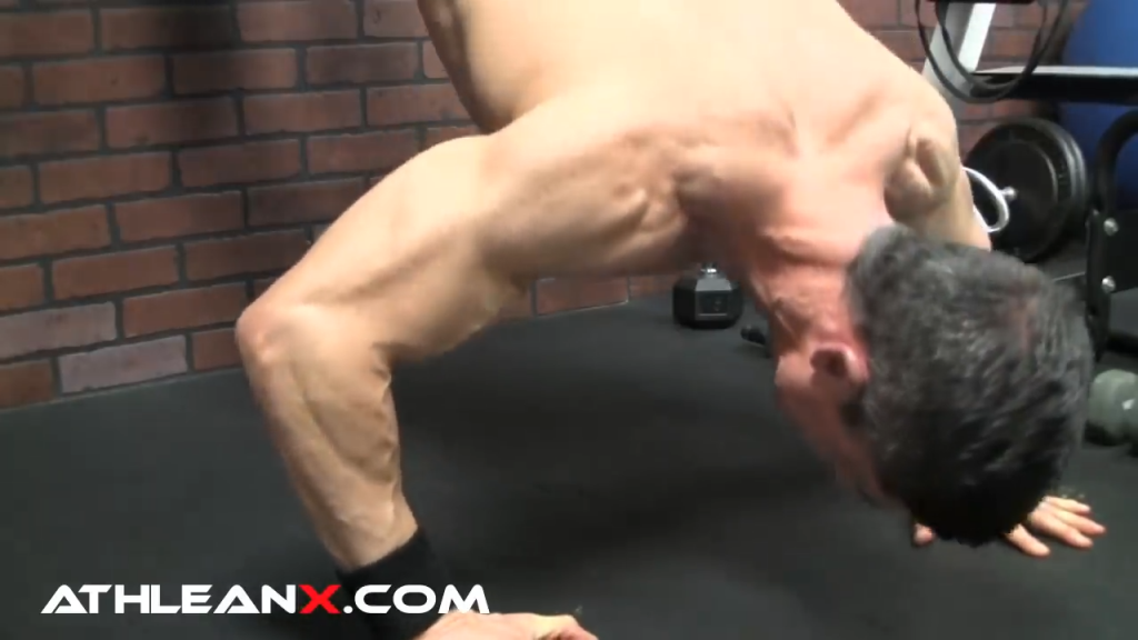 decline pushup bodyweight exercise for upper chest
