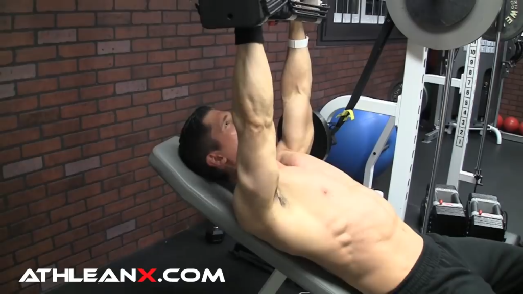 incline bench press arms at 120 angle to chest