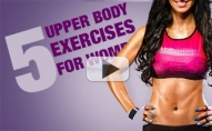 5 Killer Upper Body Moves (Using ONE Plate!!)