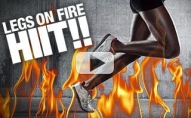 Cardio and Legs Workout (LEGS ON FIRE HIIT!!)