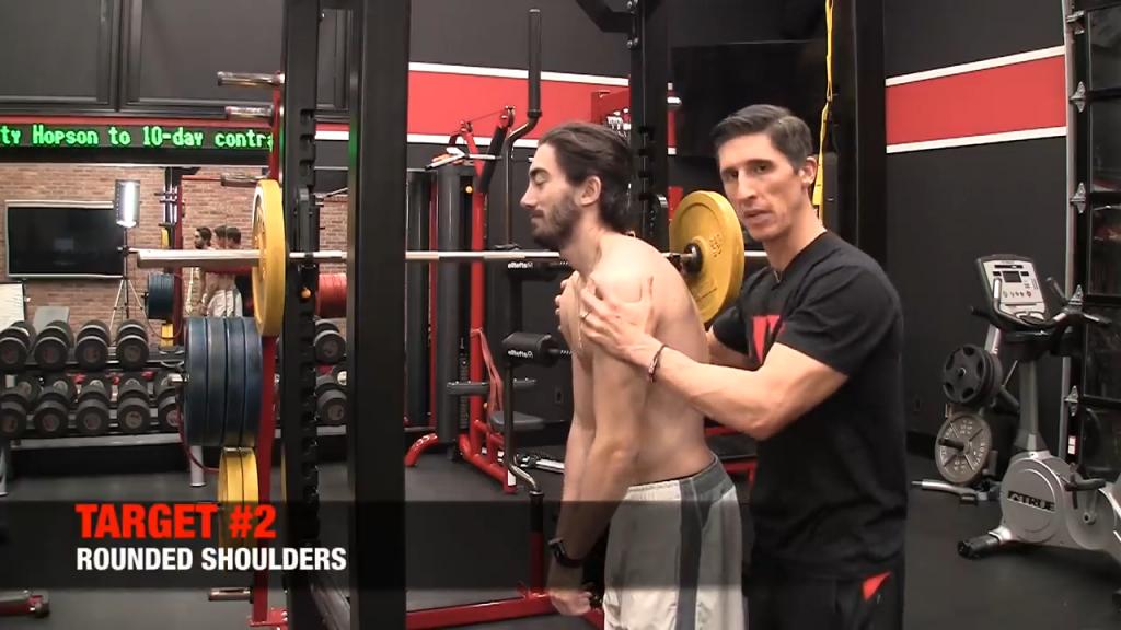 rounded shoulders posture problem
