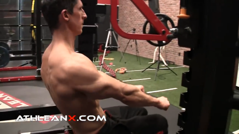 angle of arms in decline bench press
