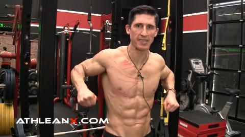 jackhammer pushdown lower chest exercise