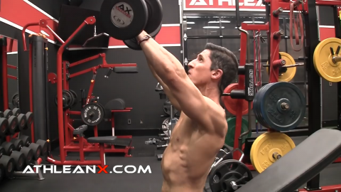 angle of arms in the incline bench press