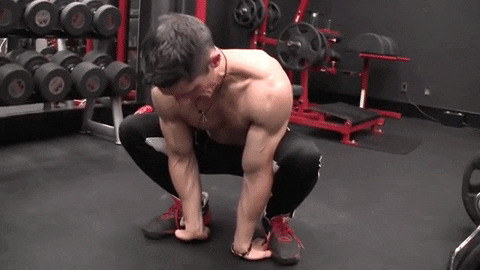 deep squat groin stretch for hips, groin, biceps, forearms and fingers