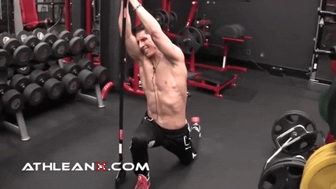 overhead leaning lunge stretch for hip flexors