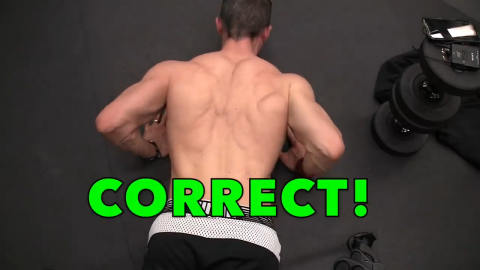 correct elbows in pushup