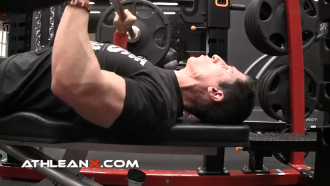 don't push head into bench on bench press