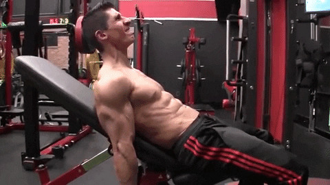 dumbbell incline curl with triceps contraction exercise