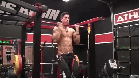 weighted chin up exercise