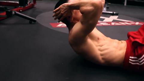 get shoulder blades off the ground in crunches