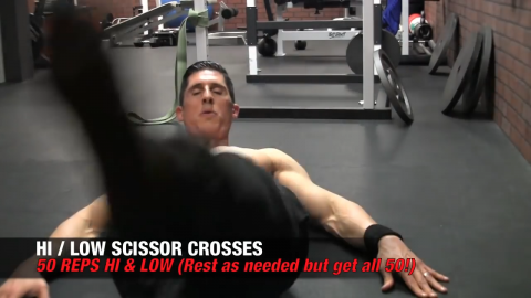 hi low scissor crosses ab exercise