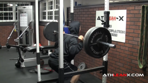 flip up your hood for additional focus in leg exercises