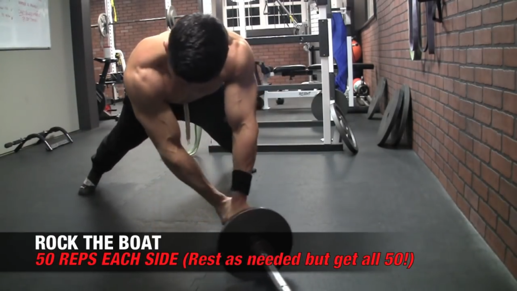 rock the boat exercise for six pack abs
