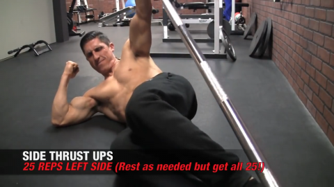 left side thrust ups ab exercises