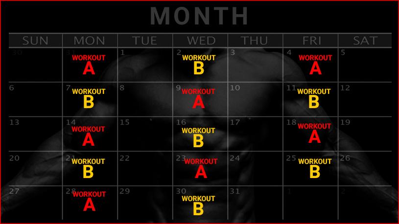30 day full body workout plan calendar