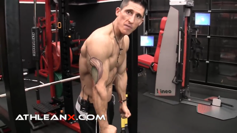 at the bottom of the triceps pushdown movement all the tension is gone