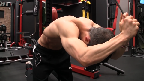 banded pull downs abs exercise