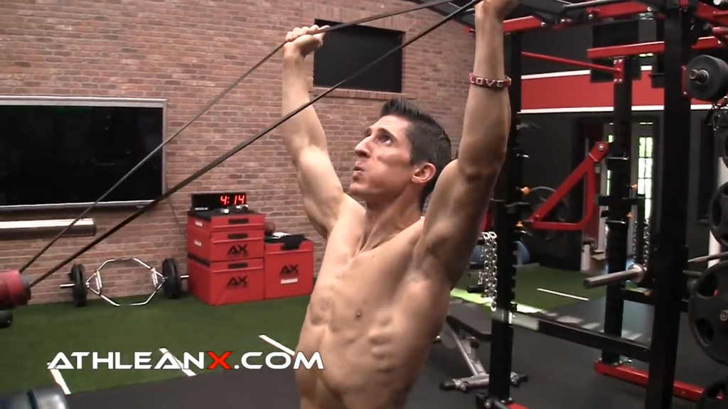 banded shoulder activation exercise