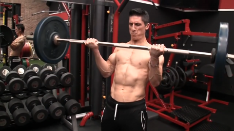 barbell curl strongest biceps contraction in the middle of the strength curve