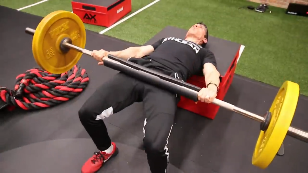 barbell hip thrust glutes exercise