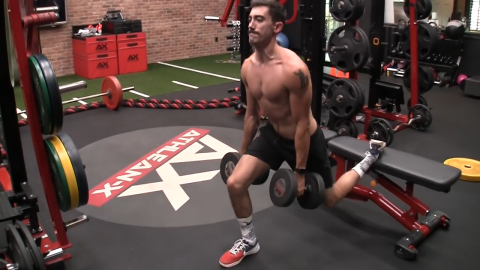 bulgarian split squat for the quads